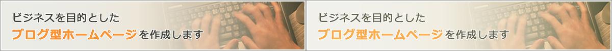 ビジネスを目的としたブログ型ホームページを作成します。